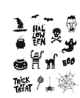 """Rubberstamp """"Spooky Scribbles"""" - Stampers Anonymous (Tim Holtz)"""