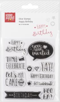 "Clearstamp ""Happy Birthday"" - Knorr Prandell"