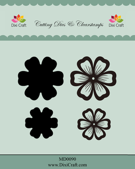 "Stamp & Die Cut ""Flowers #2"" - Dixi Craft"