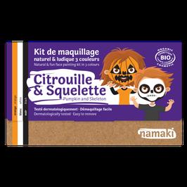 Kit maquillage Namaki Citrouille & Squelette