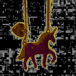 Collier chaine pendentif Licorne