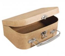 Pappmaché Koffer klein