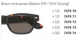 Kunststoffsonnenbrille zum Lesen
