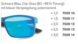 Kunststoffbrille mit magnetischem Sonnenclip