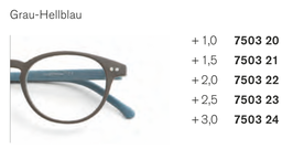 Kunststoffbrille rund Bicolor