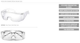 Sicherheitsbrille über Ihre eigene Brille A12124A