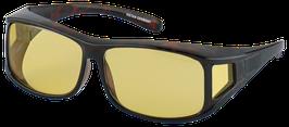 Überzieh - Sonnenbrille 7783 - Havanna braun mit gelben Gläser
