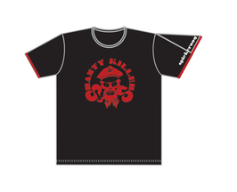 Shanty Killers Keerls-T-Shirt Schwarz-Rot