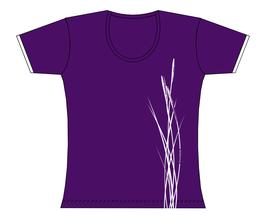 Froen-T-Shirt Strandhafer lila