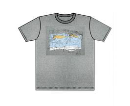 Keerls-T-Shirt Seekarte grau meliert