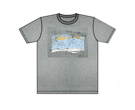 Keerls-T-Shirt Grau melliert Seekarte