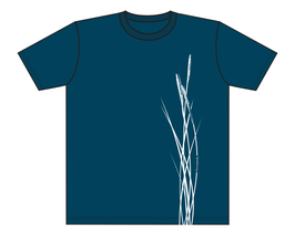 Keerls-T-Shirt Graublau Strandhafer