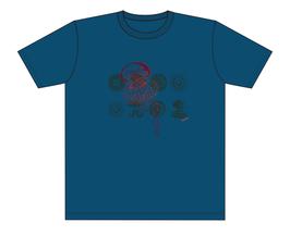 Keerls-T-Shirt Grau-Blau Qualle