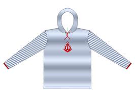 Kinners-Langarm-Kapuzenshirt Ankerflock