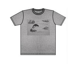 Keerls-T-Shirt Grau melliert Seeungeheuer