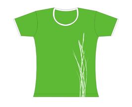 Froen-T-Shirt Grasgrün Strandhafer
