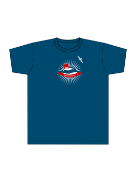 Kinners-T-Shirt Grau-Blau Spiekerworld