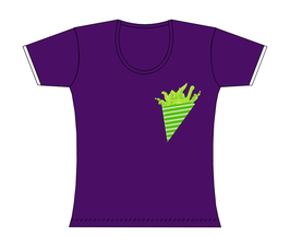 Froen-T-Shirt Lila Süße Tüte