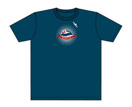 Keerls-T-Shirt Grau-Blau Spiekerworld Zelt