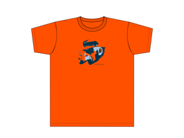 Kinners-T-Shirt Orange Seebär