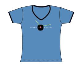 Froen-T-Shirt Boje blau