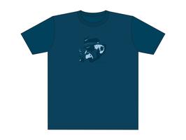 Keerls-T-Shirt Graublau Seebär