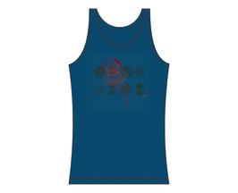 Froen-Tanktop Grau-Blau Qualle