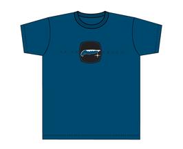 Kinners-T-Shirt Grau-Blau Insel