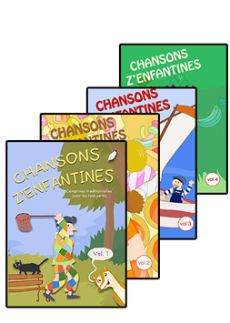 CHANSONS Z'ENFANTINES - Pack 4 DVD