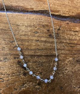 Necklace Tiny Rose Quartz