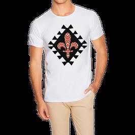 Hr. T-Shirt weiß / schwarz - MOTIV 1