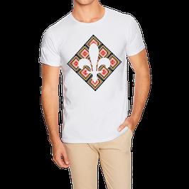 Hr. T-Shirt weiß / schwarz - MOTIV 3