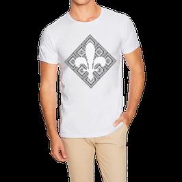 Hr. T-Shirt weiß / schwarz - MOTIV 4