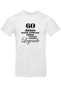 """T-Shirt """"60 Jahre - lebende Legende"""""""