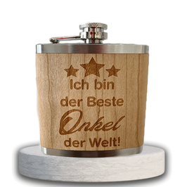 "Edelstahl-Flachmann ""bester Onkel"