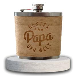 "Edelstahl Flachmann ""Bester Papa"""