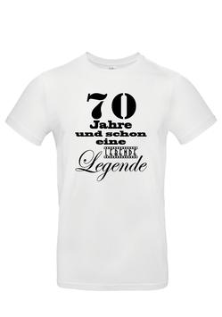 """T-Shirt """"70 Jahre - lebende Legende"""""""