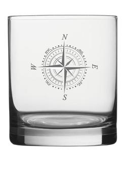 "Whiskeyglas ""Kompass"" graviert"