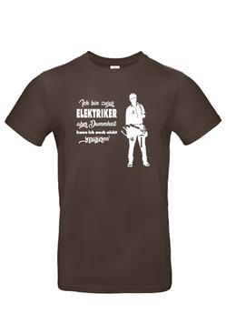 "T-Shirt ""Elektriker-Dummheit"""