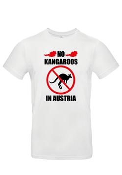 """T-Shirt """"No Kangaroos in Austria"""""""