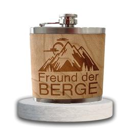 """Edelstahl Flachmann """"Freund der Berge"""""""