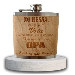"Edelstahl-Flachmann ""no Bessa Opa"""