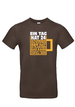 """T-Shirt """"Ein Tag hat 24 Stunden-BIER"""""""