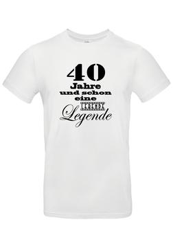 """T-Shirt """"40 Jahre - lebende Legende"""""""