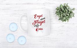 "Tasse ""Engel ohne Flügel nennt man OMA"""