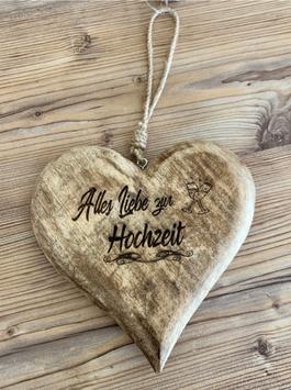 Mangoholz Herz