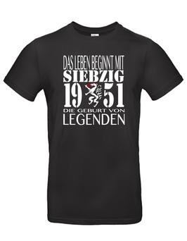 """T-Shirt """"Das Leben beginnt mit 70"""""""