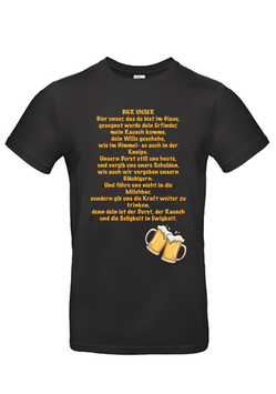 """T-Shirt """"Bier unser"""""""