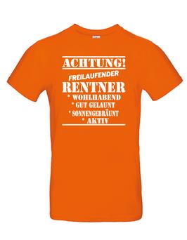 """T-Shirt """"Freilaufender Rentner"""""""