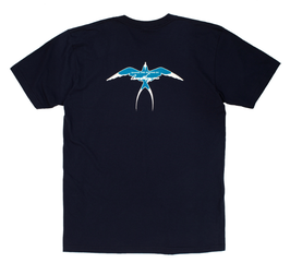Donald Takayama T-shirts Light Blue Bird logo / Navy